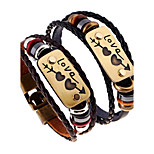 Women's Men's Leather Bracelet Jewelry Natural Fashion Leather Alloy Irregular Jewelry For Special Occasion Gift 1pc