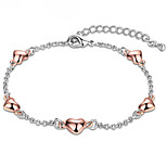 Heart Love Women's Chain Bracelet Elegant Lady Valentine Birthday Gift Jewelry