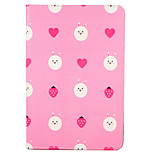 Pour apple ipad (2017) pro 9.7 '' housse avec support flip pattern carrosserie pleine carré cartoon fruit coeur hard pu cuir air 2 air