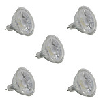5W LED High Power Spotlight MR16/GU5.3 COB 380-420 Lm White/Warm White AC220-240V 5Pcs