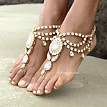 Women's Anklet/Bracelet Rhinestone Alloy Fashion Bohemian Flower Silver Gold Women's Jewelry For Daily Casual 1pc