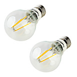 YouOKLight 2PCS E26/E27 5W 400LM AC85-265V 4*COB LEDs Warm White 3000K Globe Bulbs Edison LED Filament Light