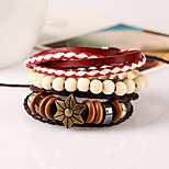 Retro All-Match Folk Style Multi Winding Coconut Shell Bracelet