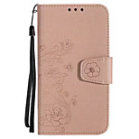 Case For Huawei P10 P10 Lite Cover Card Holder Wallet Flip Embossed Pattern Full Body Case Flower Glitter Shine Hard PU Leather for Huawei P8Lite 2017