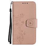 Cassa per huawei p10 p10 lite copertura porta carte portafoglio flip modello goffrato corpo pieno cassa fiore brillare lucido pelle pu per