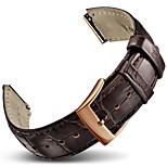 For Huawei Watch Band Strap Solid color Leather Sport Band