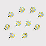 G4 12SMD 5050 LED Autocar Light Warm White Light DC12V 10Pcs
