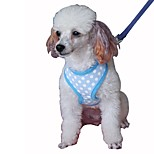 Harness Leash Portable Breathable Foldable Adjustable Safety Polka Dot British Mesh Cotton