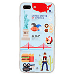 For Apple iPhone 7 7Plus Case Cover Pattern Back Cover Case Cartoon  Hard PC  6s Plus  6 Plus  6s 6