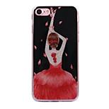 Pour Apple iphone 7 7plus casse-têtes danse fille motif flash poudre imd process tpu matériel téléphone étui iphone 6 6s plus se 5s 5