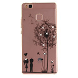For HUAWEI P8 P9 Case Cover Dandelion Pattern HD Painted Drill TPU Material IMD Process High Penetration Phone Case P10 Lite (2017) Y5II Y6II