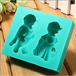 Bear couple modeling turned sugar cake silicone mold