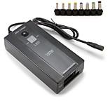 Adaptador de alimentação de laptop universal 100w levou luz com eu plug power cable