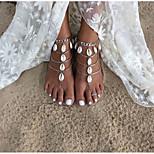 Women's Anklet/Bracelet Alloy Handmade Fashion Teardrop Silver Women's Jewelry For Daily Casual 2pcs