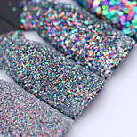 Colorful Shining Nail Glitter Sequins 3g Hexagon Flakies Powder Dust 0.15mm-1mm Manicure Nail Art Decoration