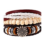 Retro Folk Style Multi-Layer Woven Beads Bracelet