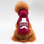 Кошка Собака Плащи Футболка Толстовки Одежда для собак На каждый день Спорт Буквы и цифры Серый Красный