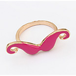 Euramerican Hip-Hop Fuchsia Mustache Rings Women's Party Halloween Rings Statement Jewelry