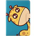 Para la manzana ipad mini 3/2/1 cubierta del caso con el soporte auto sueño / estela flip patrón magnético del cuerpo entero caso animal