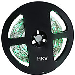 HKV® 1PCS 5M 36W 300 LED 3528 SMD 3450-3550LM Green No-Waterproof Light Normal Brightness Flexible LED Light Bar Strip (DC 12V)