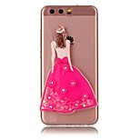 For HUAWEI Y5 Y6 II Case Cover Sexy Lady Powder Quicksand TPU Material DIY Phone Case P10 P9 P8 Lite Plus (2017)