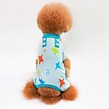Кошка Собака Футболка Толстовка Комбинезоны Пижамы Брюки Одежда для собак На каждый день Звезды Серый Синий Розовый