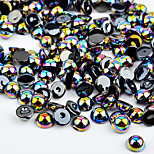 Colorful Resin Pearls Stones Nail Art Decorations Flashes Nail Art Design (about 300pcs/set)