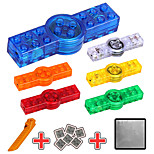 LED Lighting DIY KIT Building Blocks Spinning Top For Gift  Building Blocks Square ABS 6 Years Old and Above Toys