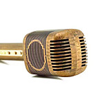 JY-51 Retro Wood Color Style Magic Karaoke Microphone Wireless Bluetooth Mic Speaker Song Recorder Music KTV