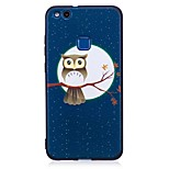 For Huawei P10 Lite P9 Lite Case Cover Owl Pattern Relief Back Cover Soft TPU P8 Lite 2017