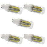 5PCS 5W GU10 LED Corn Lights  80 SMD 5730 1000 lm Warm White /White AC 220-240V No strobe