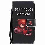 For Huawei P10 Plus P10 Lite Case Cover Card Holder Wallet with Stand Flip Pattern Full Body Case Bear Hard PU Leather P10 P8 lite 2017 P9 lite mate9