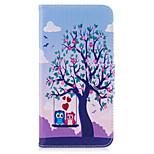 Для iphone 7plus 7 phone case pu кожаный материал 2 совы узор окрашенный корпус телефона 6s плюс 6plus 6s 6 se 5s 5