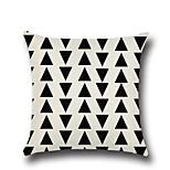 1 Pcs Black Triangle Stripe Printing Pillow Case Creative Design Pillow Cover Home Decor