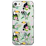 Til iphone 7 plus 7 case cover gennemsigtigt mønster bagside cover blomst dyr soft tpu til iphone 6s plus 6s 6 plus 6 5s 5 se