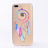 Pour iphone 7 7 plus couverture de boîtier transparent modèle couverture arrière récipient de rêve doux tpu pour iphone 6s 6 plus 6s 6 se