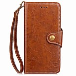 For LG G6 G5 Case Cover Card Holder Wallet with Hand Strap Flip Magnetic Full Body Case Solid Color Hard PU Leather for LG G4 G3