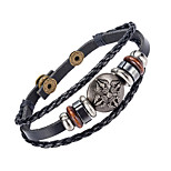 Women's Men's Leather Bracelet Jewelry Natural Fashion Leather Alloy Irregular Jewelry For Special Occasion Gift Sports