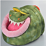 Cat Dog Bed Pet Mats & Pads Animal Portable Breathable Tent Green
