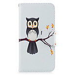 For Huawei P10 Lite P8 Lite (2017) Phone Case PU Leather Material Tree Owl Pattern Painted P10 P9 Lite P9 Y5 II Honor 6X