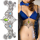 1Pc Sexy Chest Bikini Tattoo Stickers Large Shoulder Arm Sternum Tattoo Sleeve Body Back Tattoo Summer Girls