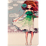 For Apple iPad Mini 3/2/1 Case Cover with Stand Auto Sleep / Wake Flip Magnetic Pattern Full Body Case Sexy Lady Hard PU Leather