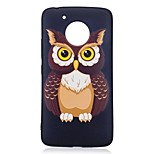 For Motorola Moto G5 Plus Case Cover Owl Pattern Relief Back Cover Soft TPU
