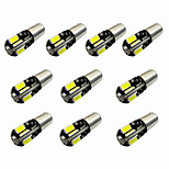 10PCS H6W BAX9S CANBUS 8SMD 5730 Decode Indicator Light Lamp Light Reading Light DC12V White