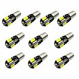 10pcs h6w bax9s canbus 8smd 5730 decodificação luz indicadora luz luz de leitura dc12v branco