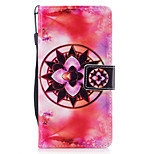 For Huawei P8 Lite (2017) P10 Case Cover Mandala Pattern Painted PU Skin Material Card Stent Wallet Phone Case P10 Plus P10 Lite