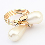 Euramerican Personalized  metal Great  Pearl Ring Couple's Daily Cuff Ring Movie Jewelry