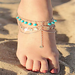 Women's Anklet/Bracelet Acrylic Copper Bohemian Alphabet Shape Silver Gold Women's Jewelry For Daily Casual 1pc