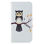 For HUAWEI P10 P9 Lite Case Cover Owl Pattern PU Material Card Stent Wallet Phone Case Galaxy 6X Y5II P8 Lite (2017)