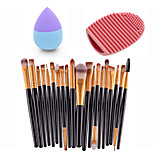 20pcs Eye Brush Gold Black &Small Liquid Latex Water Droplet Puff &Makeup Brush Eggs